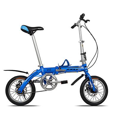 dequilon K8 14 בלמי דיסק כפולים מתקפלים מיני אינץ אופני האופניים ultraportability יחיד מהירות כחולה