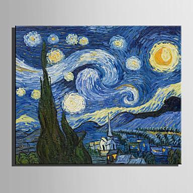 Maalattu Kuuluisa / MaisemaEuropean Style 1 paneeli Kanvas Hang-Painted öljymaalaus For Kodinsisustus