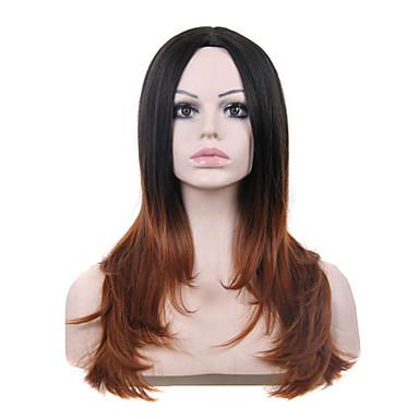 פאה סינטתית טבעי באיכות גבוהה ישר שיער מרובה צבעים בלי כומתה, אורך זמן רב