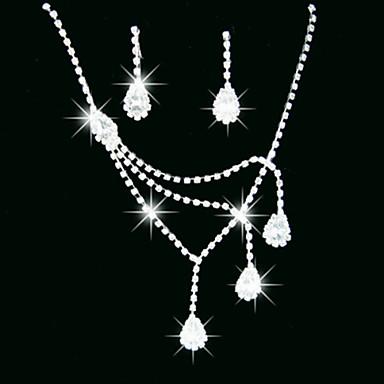 Mulheres Conjunto de jóias - Cristal, Imitações de Diamante Incluir Colar / Brincos Para Casamento / Festa / Colares