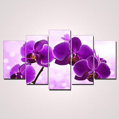 Aufgespannte Leinwandrucke Blumen Modern, Fünf Panele Segeltuch Horizontal Druck Wand Dekoration Haus Dekoration