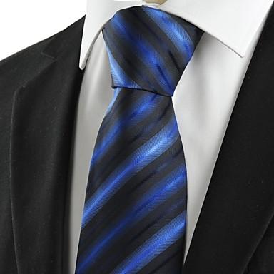 Solmio-Polyesteri,Raidallinen,Musta / Sininen