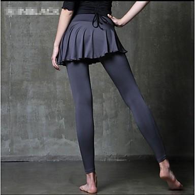 בגדי ריקוד נשים מכנסי ריצה ייבוש מהיר נושם חומרים קלים תומך זיעה דחיסה מכנסיים תחתיות ל יוגה פילאטיס כושר גופני ספורט פנאי ריצה טרילן צמוד