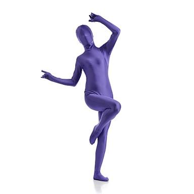 Buy Zentai Suits Ninja Cosplay Costumes Purple Solid Leotard/Onesie Spandex Lycra Unisex Halloween