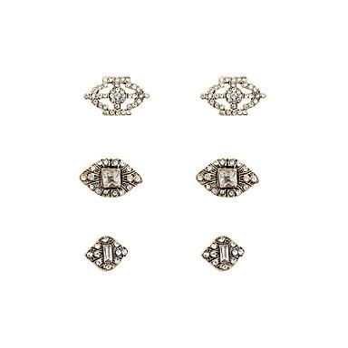 Damen Schmuckset Ohrstecker Ohrringe Set - Strass, Diamantimitate Luxus, Party, Büro Gold / Silber Für Alltag / 6pcs