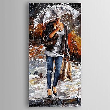 מצויר ביד אנשיםמודרני פנל אחד בד ציור שמן צבוע-Hang For קישוט הבית