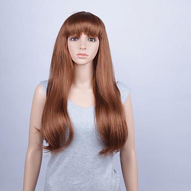 Synthetische Lace Front Perücken Glatt Mit Pony Damen Spitzenfront Synthetische Haare