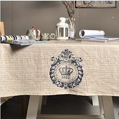 Quadratisch Mit Mustern Tischdecken , Leinen  /  Baumwollmischung Stoff Tabelle Dceoration