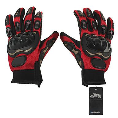 Motos luvas Dedo Total Pele / Algodão / Tela / Grade / ABS M Vermelho