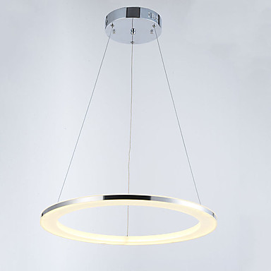 Vedhæng Lys Baggrundsbelysning Krom Metal Akryl Krystal, LED 110-120V / 220-240V Varm Hvid / Kold Hvid Pære Inkluderet / Integreret LED / FCC