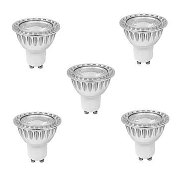 3W GU10 Żarówki punktowe LED MR16 1 Diody lED COB Przysłonięcia Ciepła biel Zimna biel 280-350lm 3000K AC 220-240V