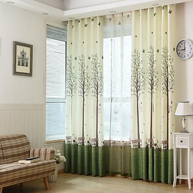 Vorhänge drapiert Schlafzimmer Polyester Druck