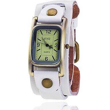 Damen Quartz Armbanduhr Armbanduhren für den Alltag Leder Band Retro Kleideruhr Modisch Schwarz Blau Braun Grün Mehrfarbig