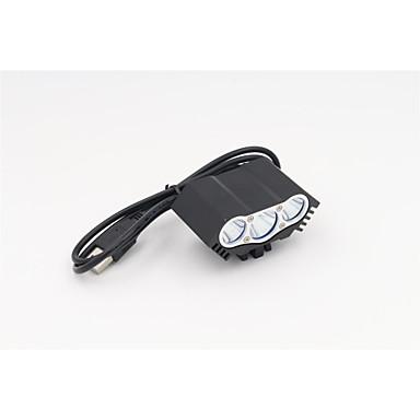 Kerékpár világítás LED 1200 Lumen 3 Mód Cree T6 USB Újratölthető VízállóKempingezés/Túrázás/Barlangászat Mindennapokra Kerékpározás