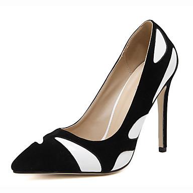 Damen Schuhe Vlies Sommer High Heels Stöckelabsatz Weiß / Gelb