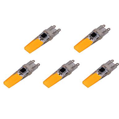 YWXLIGHT® 5pçs 500-700 lm G9 Luminárias de LED  Duplo-Pin T 2 leds COB Decorativa Branco Quente Branco Frio AC 220-240V