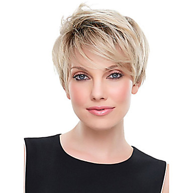Hot Selling Lady Wig Blonde Color Synthetic Hair Wig