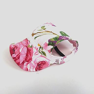 abordables Accessoires pour Animaux-Chat Chien Bandanas & Chapeaux Vêtements pour Chien Fleur Rose Nylon Costume Pour Printemps & Automne Eté Femme Vacances
