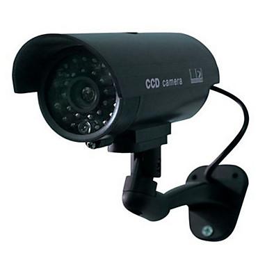 otthoni megfigyelő biztonsági kültéri vízálló led villog ir szimuláció kamera
