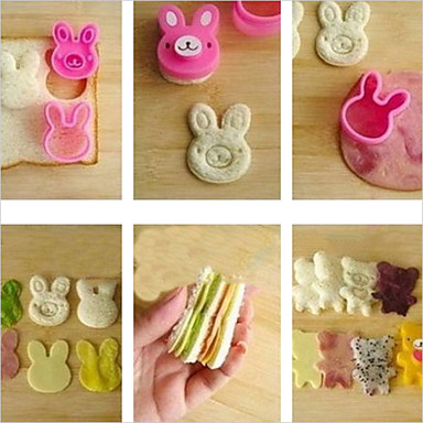 베이킹 몰드 동물 샌드위치 쿠키 케이크 브레드 플라스틱 DIY
