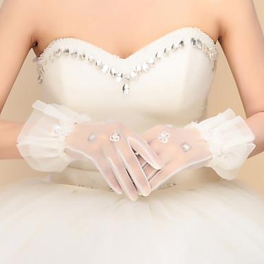 Nylon Handgelenk-Länge Handschuh Brauthandschuhe Party / Abendhandschuhe With Paillette