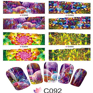 1 Neglekunst klistremerke Vannoverføringsklistre Tegneserie Smuk Sminke Kosmetikk Neglekunst Design
