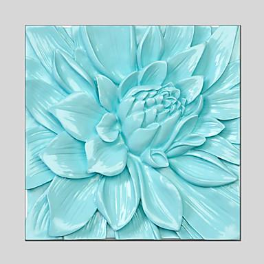 Handgemalte Blumenmuster/Botanisch Quadratisch,Modern Klassisch Traditionell Europäischer Stil Ein Panel Leinwand Hang-Ölgemälde For Haus