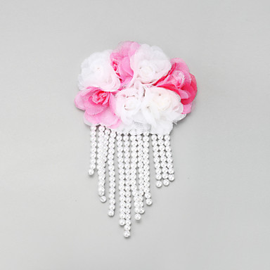 Damen Blumenmädchen Spitzen Legierung Künstliche Perle Kopfschmuck-Hochzeit Besondere Anlässe Haarclip 1 Stück
