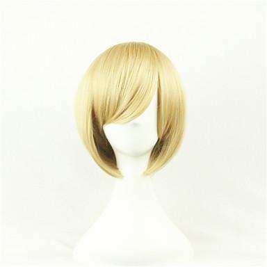 Perücken / Synthetische Perücken Glatt Asymmetrischer Haarschnitt Natürlicher Haaransatz Blond Damen Kappenlos Karnevalsperücke /