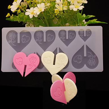 Bakeware 도구 실리콘 DIY / 발렌타인 데이 사탕을위한 / 초콜렛 / 쿠키 케이크 주형 1 개