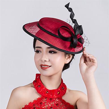 Flachs Netz Fascinators Kopfbedeckung Hochzeitsgesellschaft elegant femininen Stil