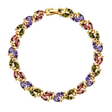 Damen Ketten- & Glieder-Armbänder Kristall Modeschmuck Krystall Zirkon vergoldet Schmuck Für Hochzeit Party Alltag Normal