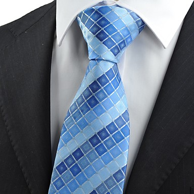 Rutenett-Slips(Blå,Polyester)