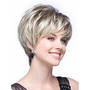 Synthetic Wig Straight Synthetic Hair White Wig Women's Capless