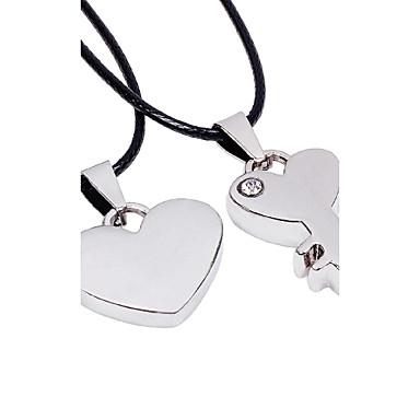 Modische Halsketten Anhängerketten Schmuck Party / Alltag / Normal / Sport Geometrische Form Titanstahl Silber 1 Stück Geschenk