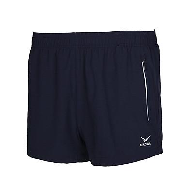 בגדי ריקוד גברים שורט לריצה נושם נמתח תחתיות ל כושר גופני מירוץ ריצה פוליאסטר משוחרר שחור כחול כהה כחול L XL XXL XXXL