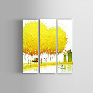 handbemalte strukturierte Landschaft Ölgemälde Palette Kunst vietnam Stil Wand gestreckten Rahmen
