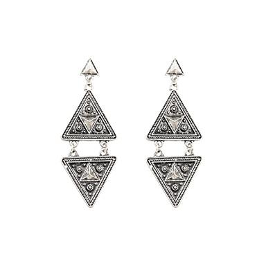 Függők Rozsdamentes acél Ötvözet Geometric Shape Triangle Shape Ezüst Ékszerek Mert Esküvő Parti Napi Hétköznapi Sport 1 pár