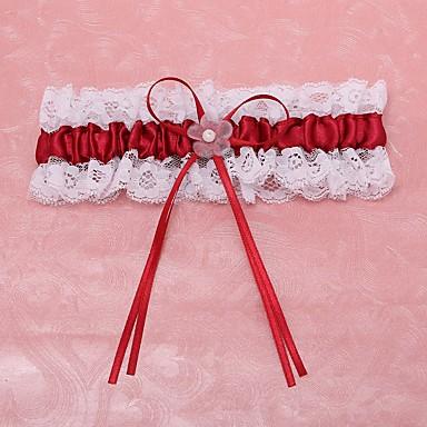 Polyester Spitze Modisch Hochzeitsstrumpfband  -  Spitze Blume Strumpfbänder