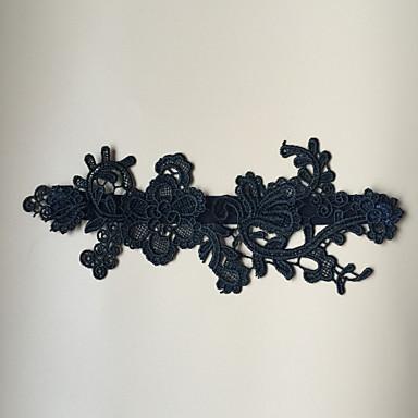 Stretch - Satin Modisch Hochzeitsstrumpfband  -  Blume Strumpfbänder