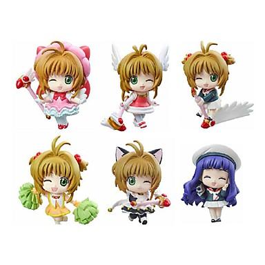 Anime Toimintahahmot Innoittamana Cardcaptor Sakura Sakura Kinomodo PVC 5.5 CM Malli lelut Doll Toy