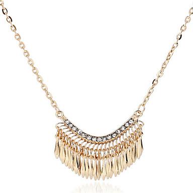 Dame Perle Lyserød Erklæring Halskæder / Perlehalskæde - Perle Erklæring, Europæisk, Mode Guld Halskæder Til Fest