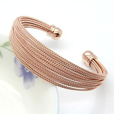 צמידים צמידי חפתים פלדת על חלד / ציפוי זהב חתונה / Party / יומי / קזו'אל תכשיטים מתנות כסף,1pc