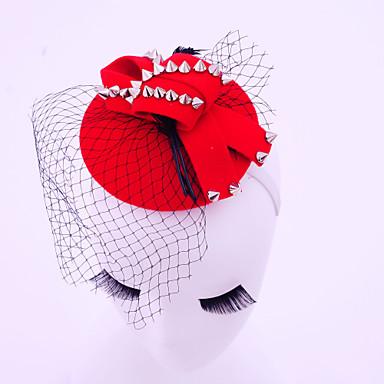Damen Feder Legierung Baumwollflanell Netz Kopfschmuck-Hochzeit Besondere Anlässe Freizeit im Freien Kopfschmuck 1 Stück