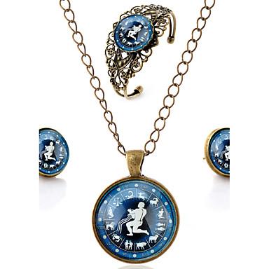 Unisexo Conjunto de jóias Bracelete Brincos Colares - Punhos Vintage Casual Esculpido Estilo simples Flor Marron Conjunto de Jóias Para