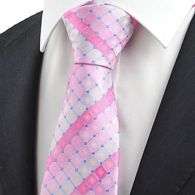 Krawatte(Rosa,Polyester)Gitter
