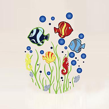 Landschaft Tiere Formen Cartoon Design Botanisch Wand-Sticker Flugzeug-Wand Sticker Dekorative Wand Sticker, Vinyl Haus Dekoration