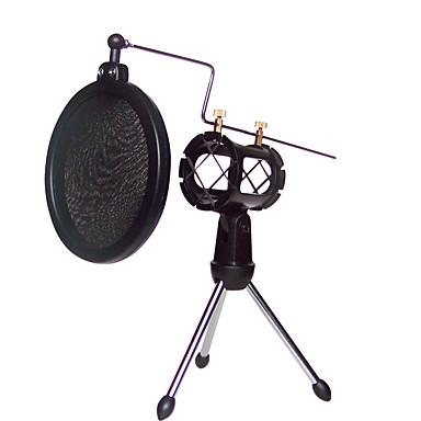 Schock Halterung Mikrofonständer Halterung mit integriertem Pop-Filter schwarz-Kit