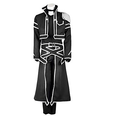 Esinlenen Sword Art Online Kirito Anime Cosplay Kostümleri Cosplay Takımları Solid Uzun Kollu Palto / Pantalonlar / Eldivenler Uyumluluk Erkek / Kadın's Cadılar Bayramı Kostümleri