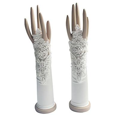 Ellenbogen Länge Ohne Finger Handschuh Baumwolle Brauthandschuhe Party / Abendhandschuhe Frühling Sommer Herbst Winter Perlen